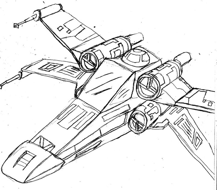 720x631 X Wing By Brian Foxglove