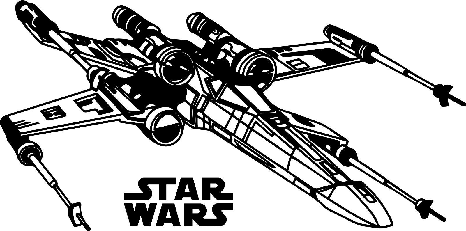 1600x794 X Wing Fighter Clipart