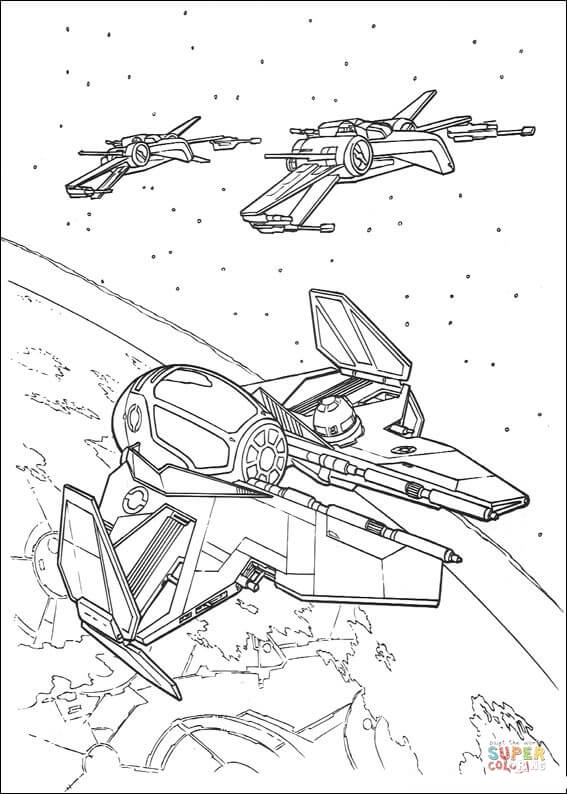 567x794 Eta 2 Starfighter And T 65 X Wing Coloring Page Free Printable