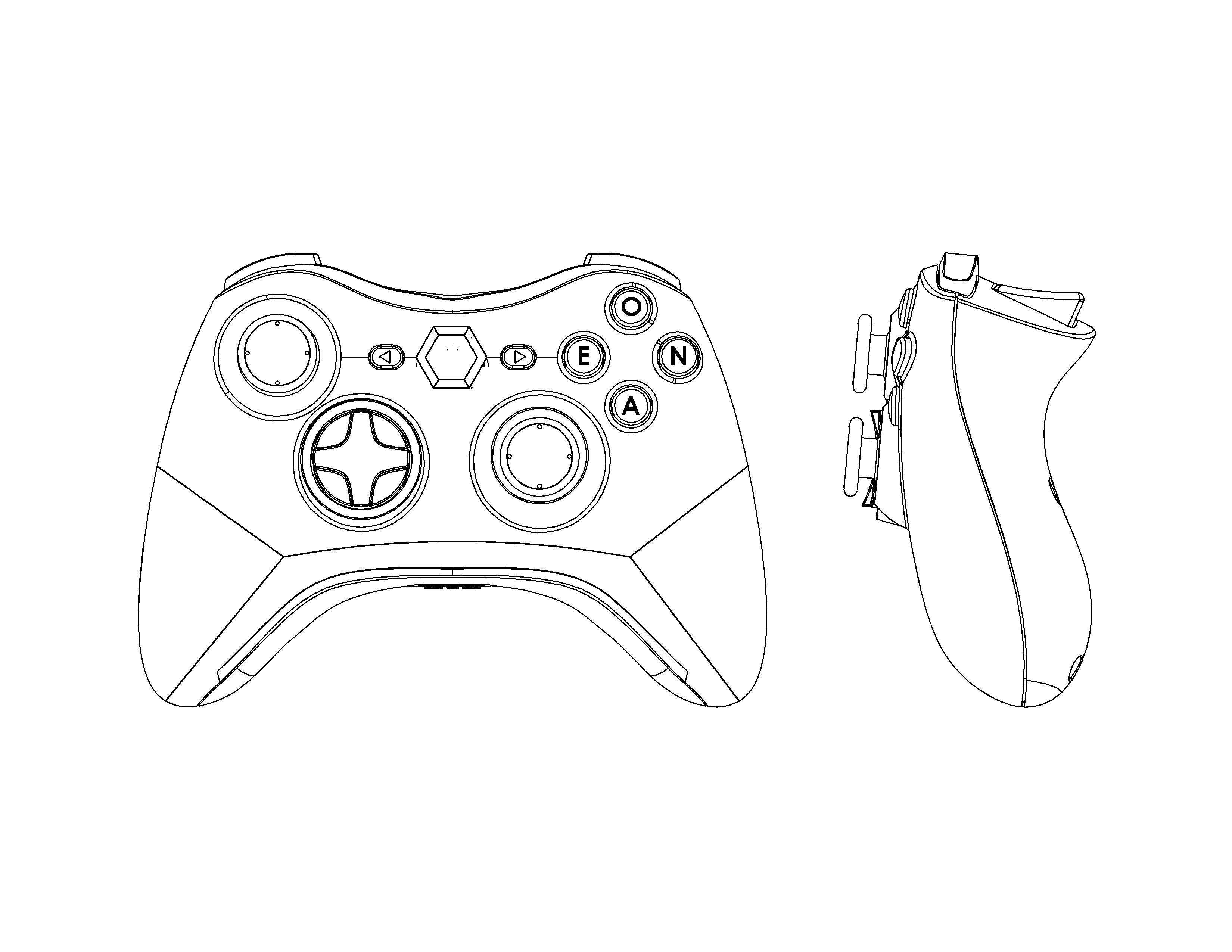 xbox 360 controller drawing at getdrawings free for personal PS3 Controller Parts Diagram 3300x2550 controller design