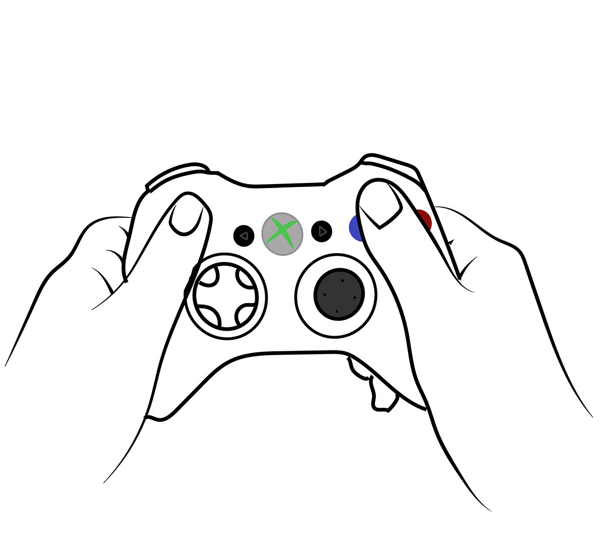 1200x1099 Ergonomic Gamepad On Behance