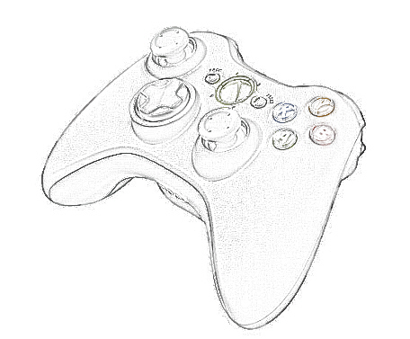 Xbox 360 Controller Drawing