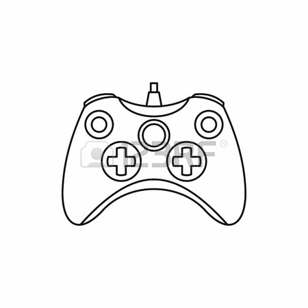 450x450 Joystick Game Controller Icon In Outline Style Isolated On White