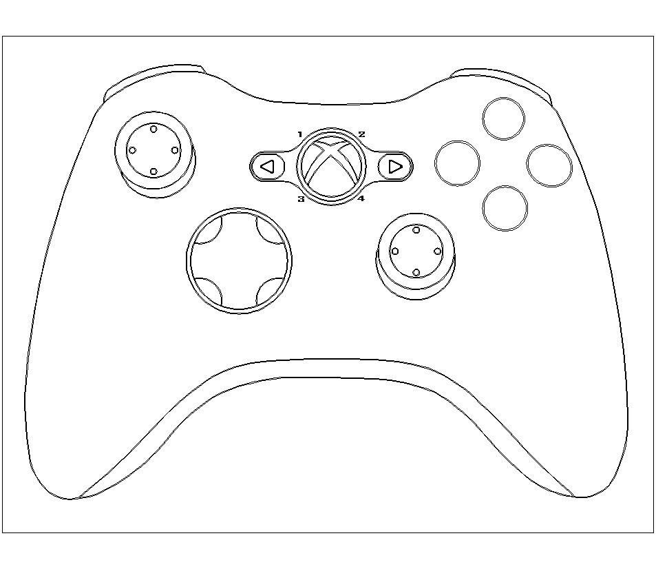 953x826 Coloring Page Xbox Controller Coloring Sheet