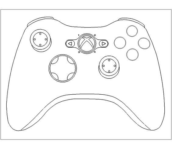Xbox One Controller Drawing