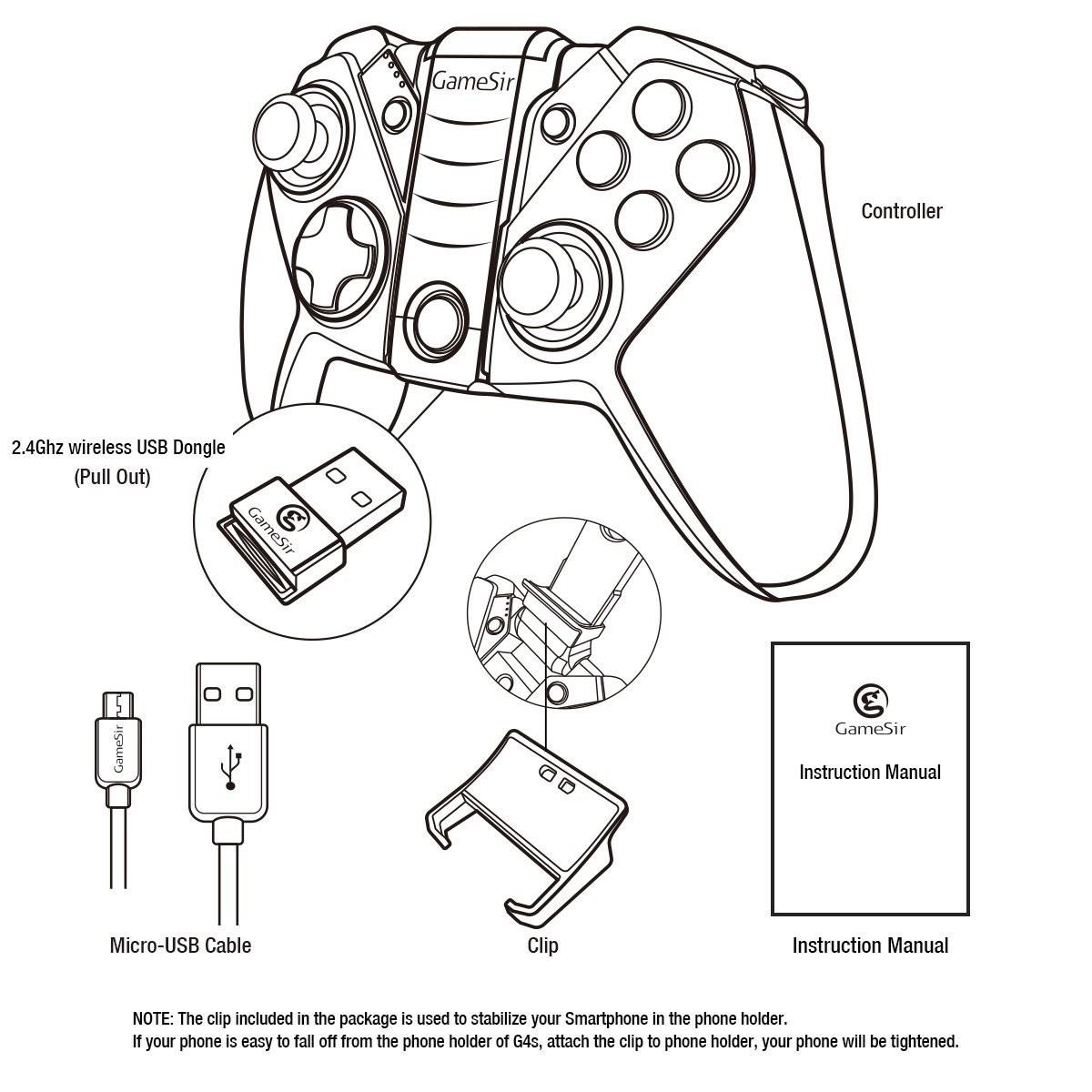 1200x1200 Gamesir G4s Bluetooth Gaming Controller