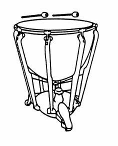 236x292 Percussion Mallet Hand Drawn, Sketch, Cartoon Illustration