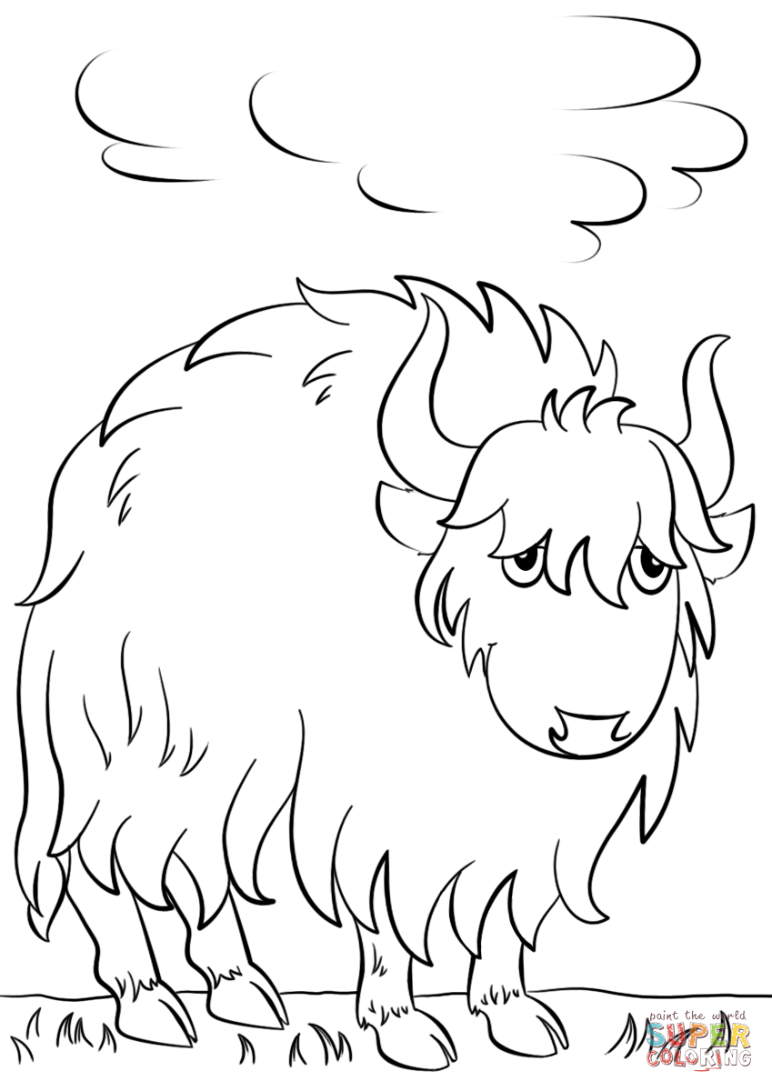 Yak Drawing At Getdrawingscom Free For Personal Use Yak Drawing
