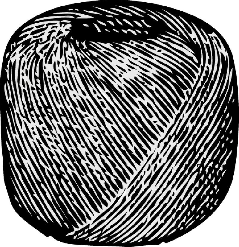 800x827 Cartoon, Ball, Twine, String, Rolled, Wool, Yarn, Roll