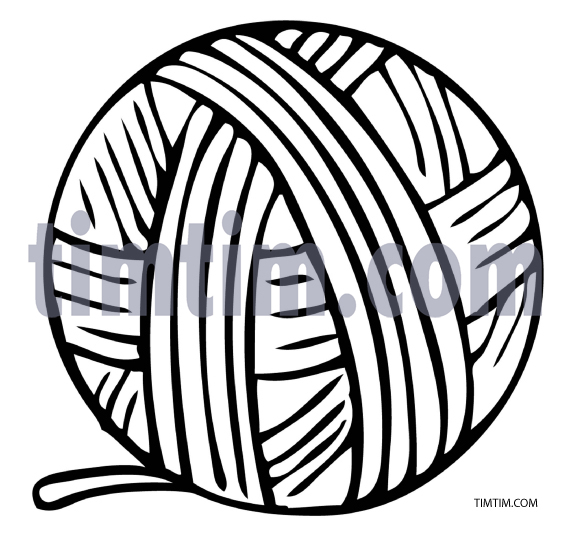 571x535 Free Drawing Of Ball Of Yarn Bw From The Category Hobby Amp Sewing