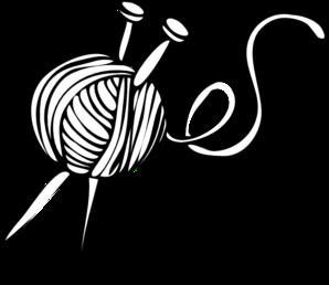 298x258 White Yarn Ball With Knitting Needles Clip Art