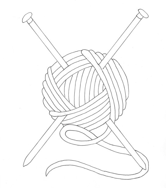 545x615 Yarn Coloring Pages