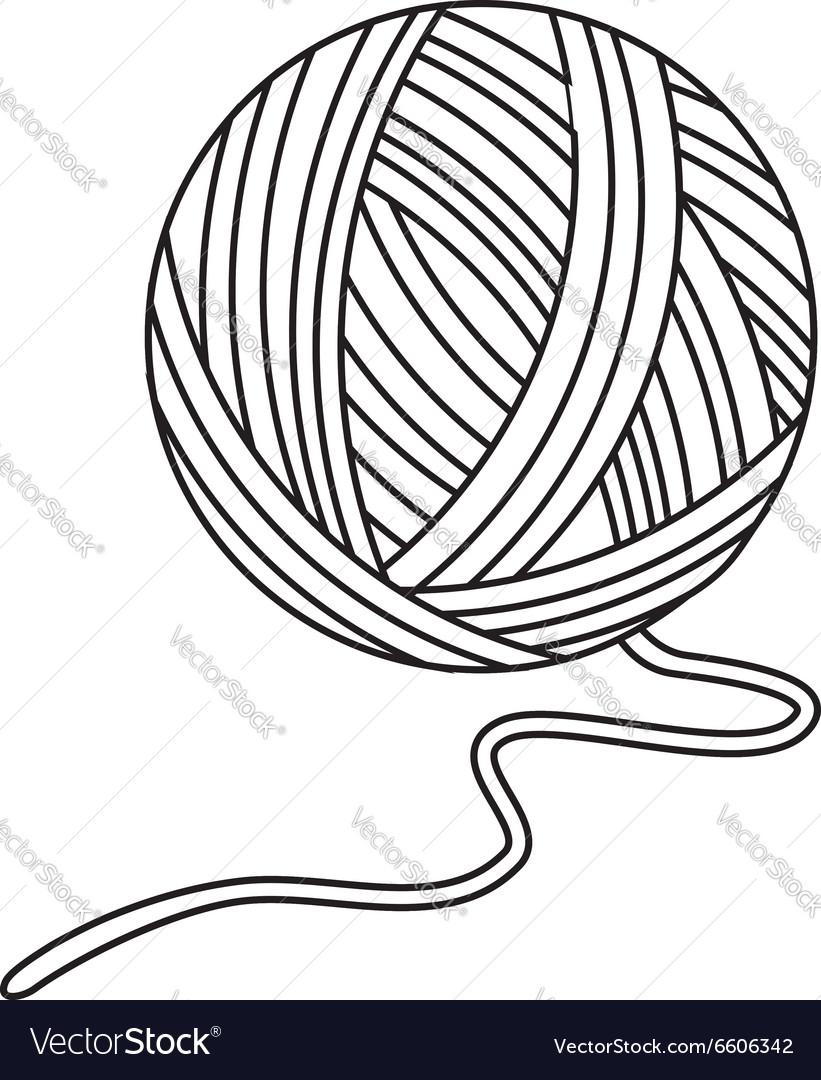 821x1080 Ball Of Yarn Drawing Yarn Ball Royalty Free Vector Image