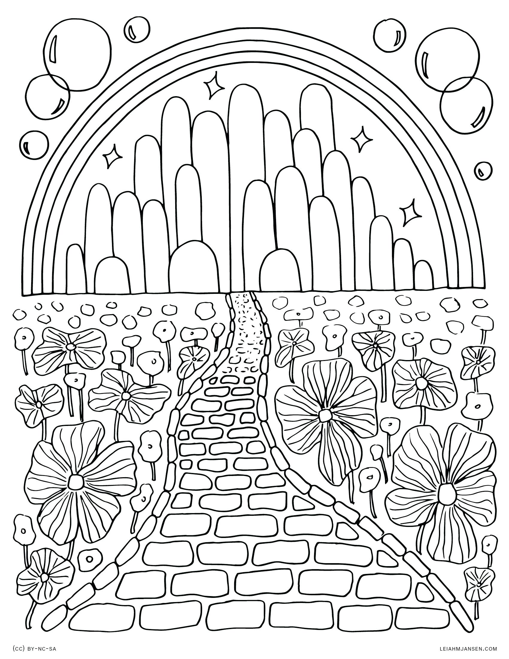 1700x2200 Coloring Wizard Of Oz Printable Coloring Pages