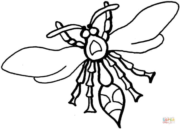 720x518 Wasps Coloring Page Free Printable Coloring Pages