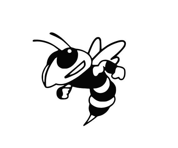 570x474 Yellow Jackets Hornets Mascot College Svg File Cutting Dxf