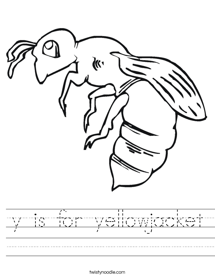685x886 Y Is For Yellowjacket Worksheet