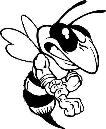 363x440 Hornet, Yellow Jacket, Bee Mascot Decal Sticker Atv