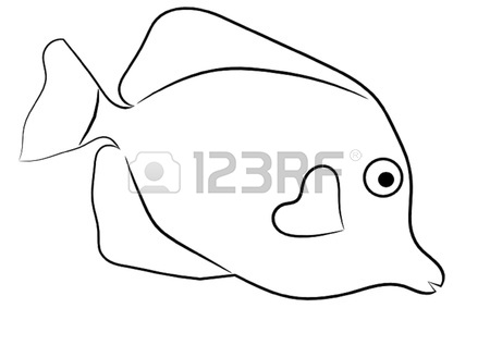 yellow tang coloring pages - photo#9