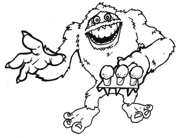 600x451 Yeti Coloring Pictures Abominable Snowman Coloring Pages