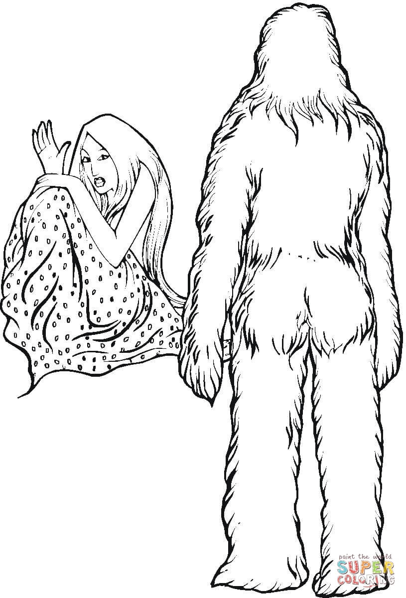 815x1200 Yeti Coloring Page Free Printable Coloring Pages
