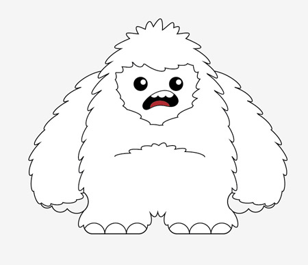450x387 How To Create A Cool Vector Yeti Character In Illustrator