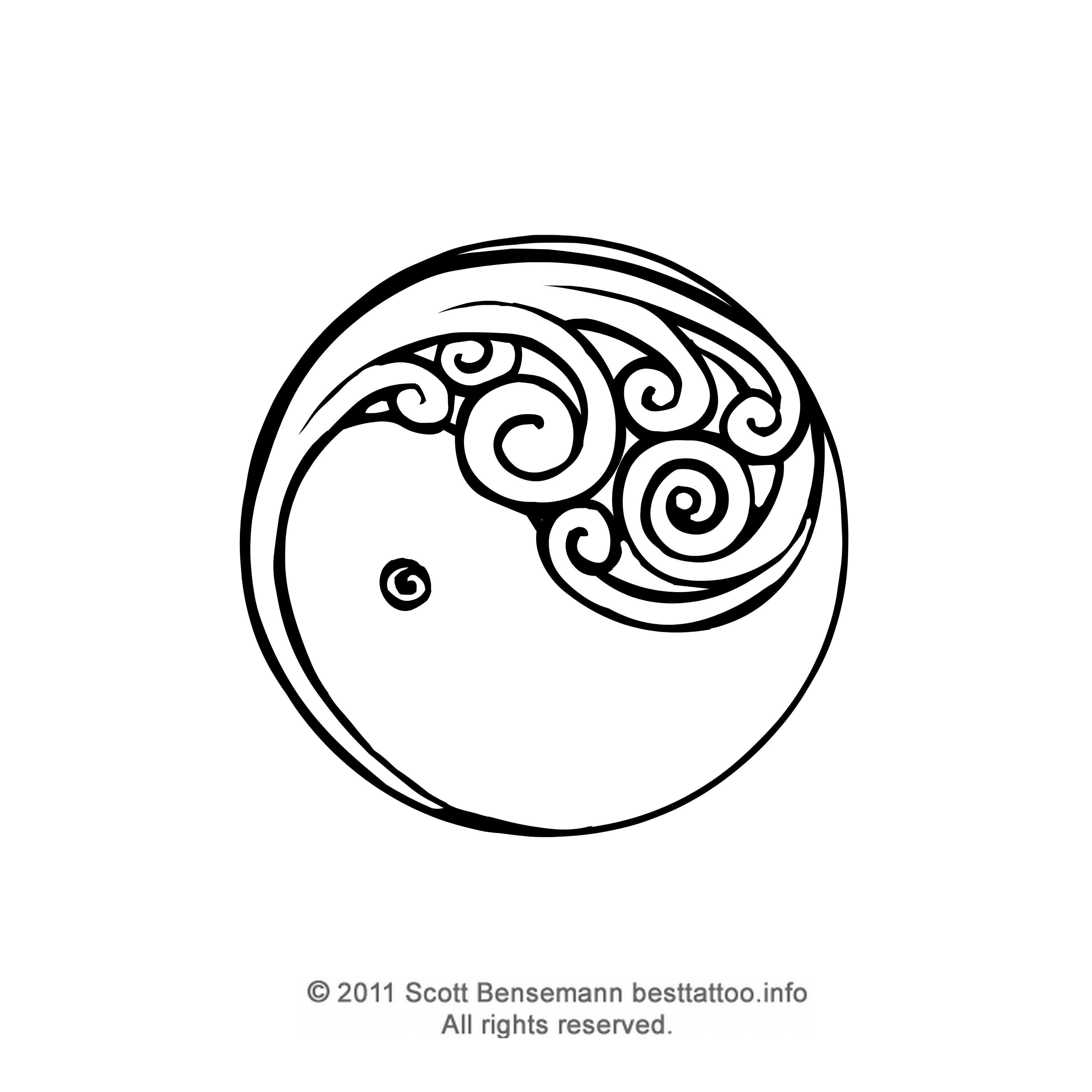 4000x4000 Maori Tattoo Design Silver Fern Koru Yin And Yang Style