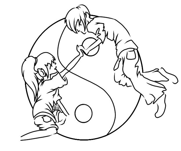 624x519 Yin Yang Couple By Roguelucifer