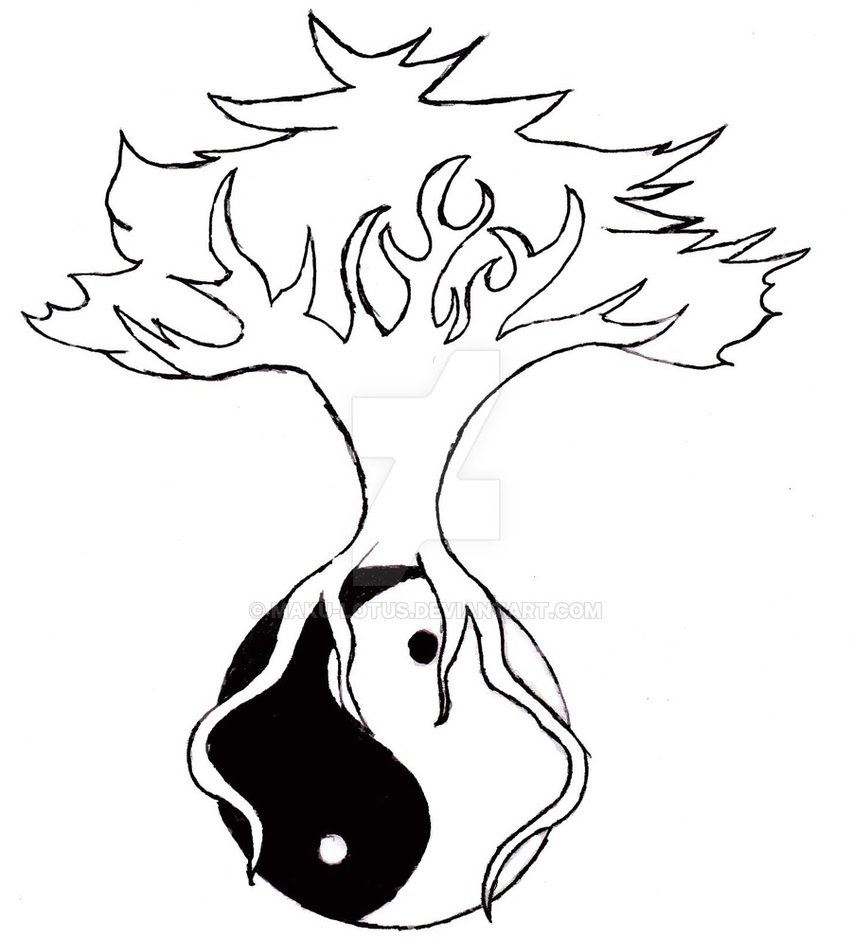 852x938 Yin Yang Tree By Maku Lotus