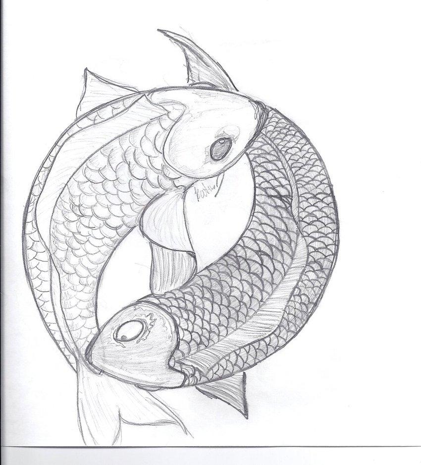 850x939 Yin And Yang Koi Fish By Miss Lunax13