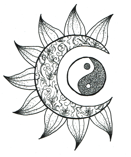 500x599 Yin Yang Drawing Tumblr