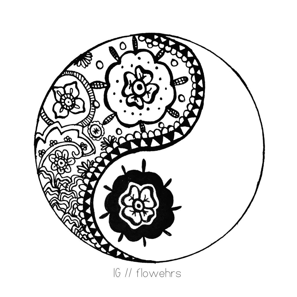 1024x1024 Cool Yin Yang Drawings Yin And Yang Drawings Roadrunnersae