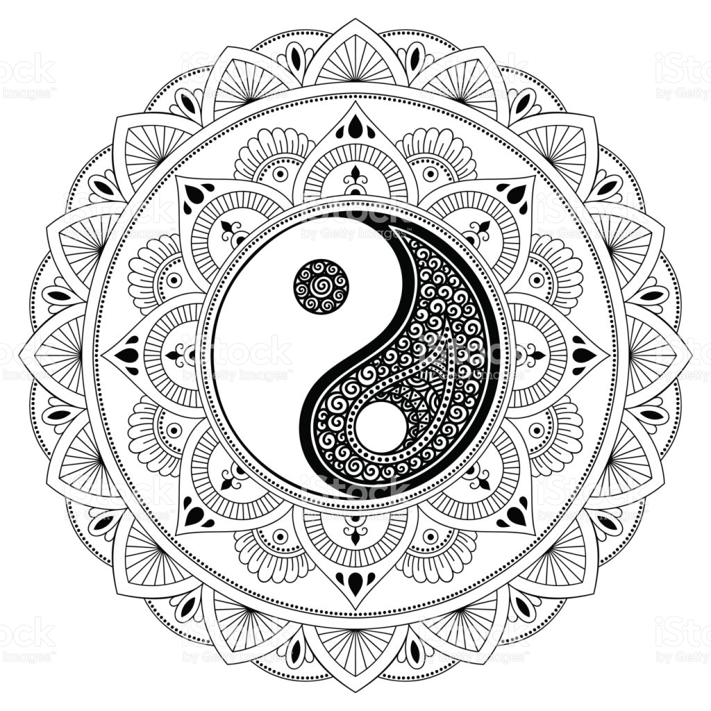 1024x1024 Yin Yang Coloring Pages
