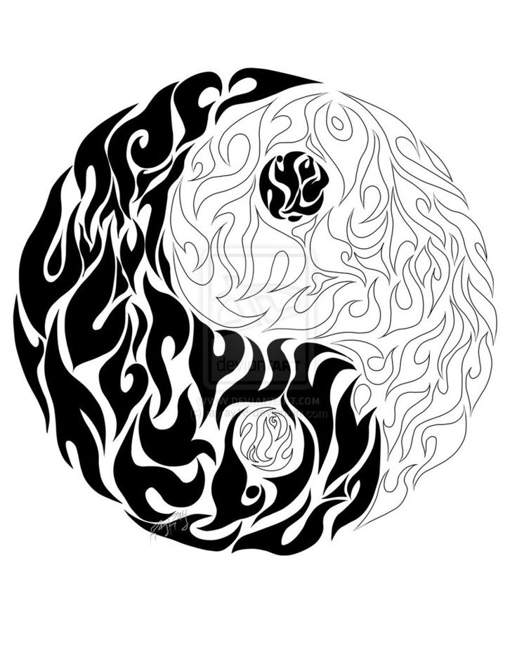Yin Yang Drawing Design