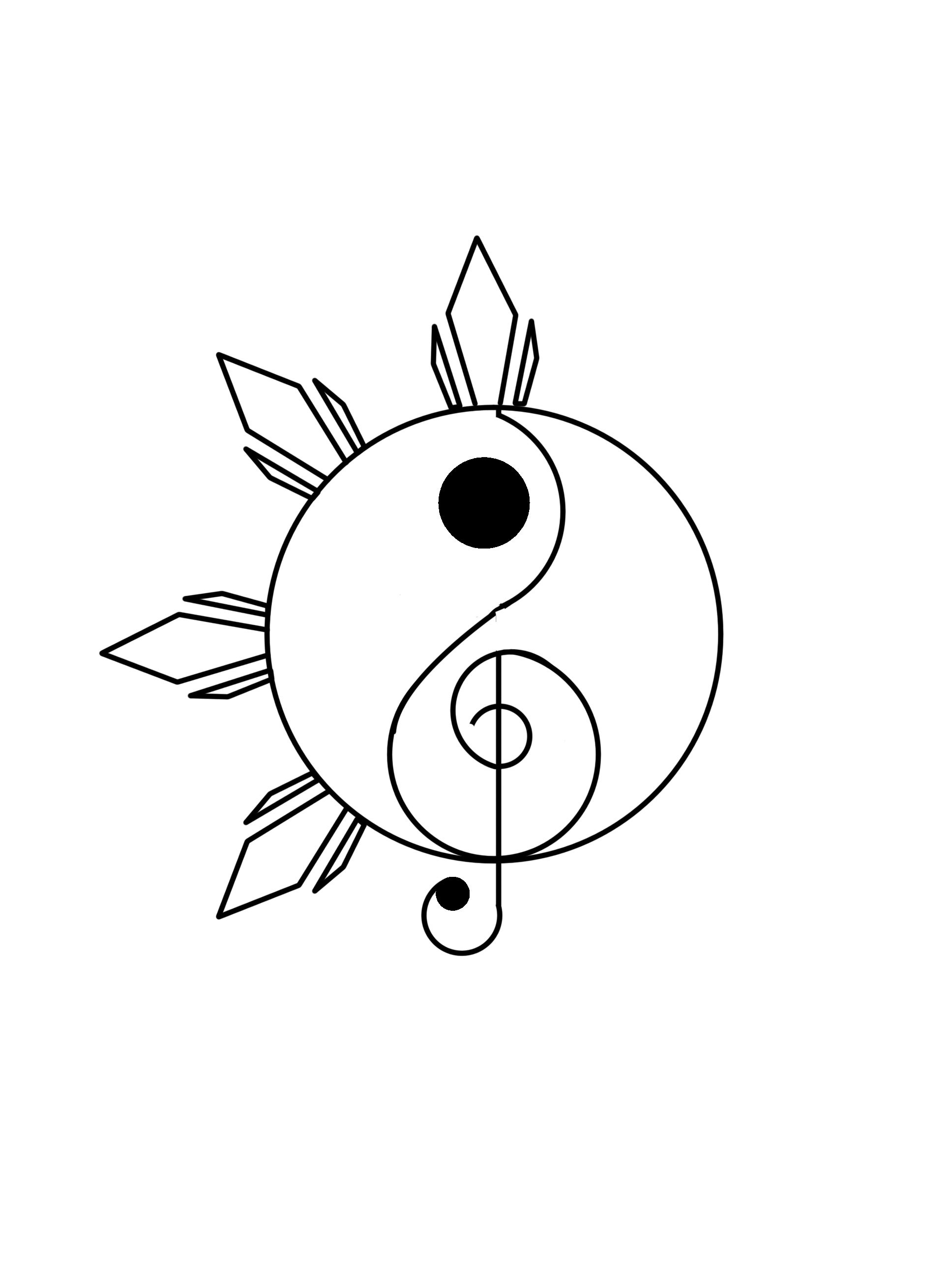 Yin Yang Drawing Designs
