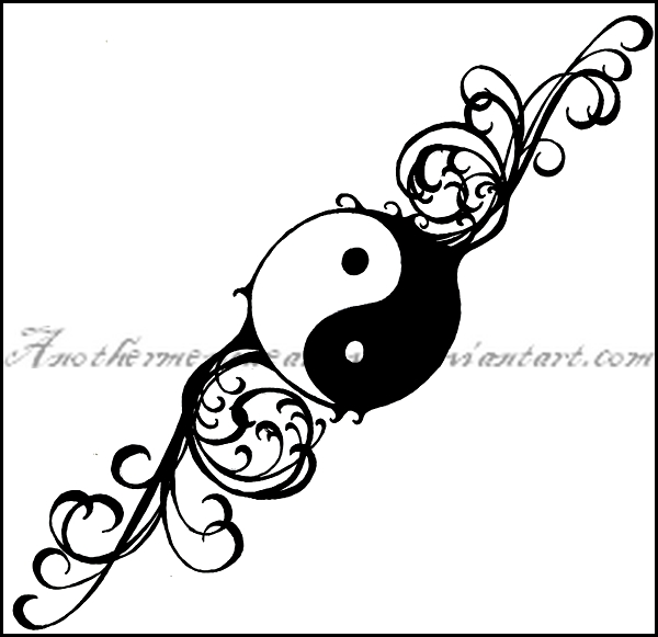 600x581 Rose Yin And Yang Tattoo Yin Yang Tattoos, Designs, Pictures