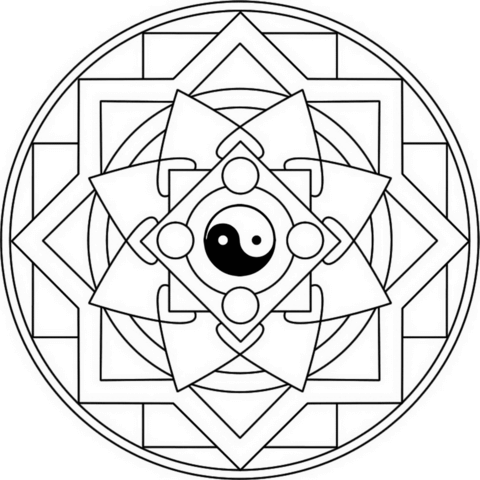 480x480 Yin Yang Coloring Pages For Tiny Draw Page Printable Coloring