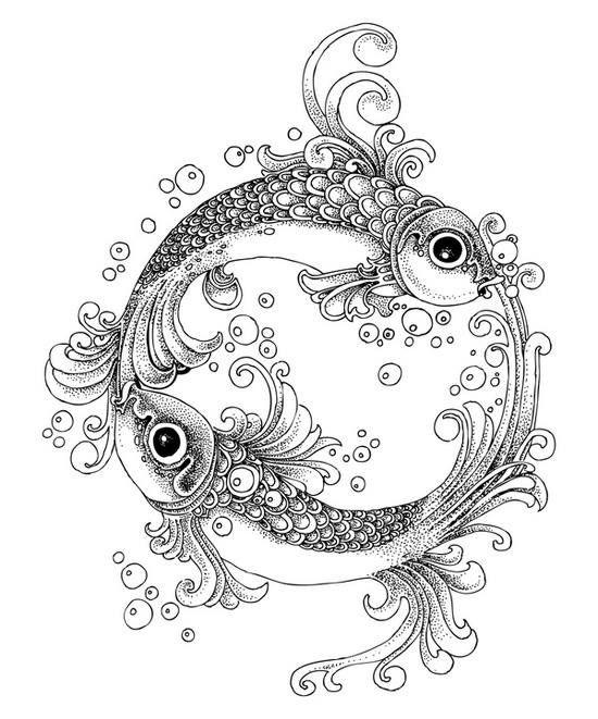 550x661 Yin Yang Fish Tattoos Design