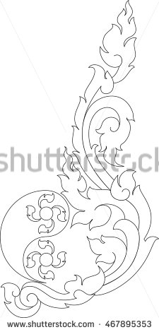 225x470 Yin Yang Floral Logo Tattoo Symbol Vector Illustration Asia Laos