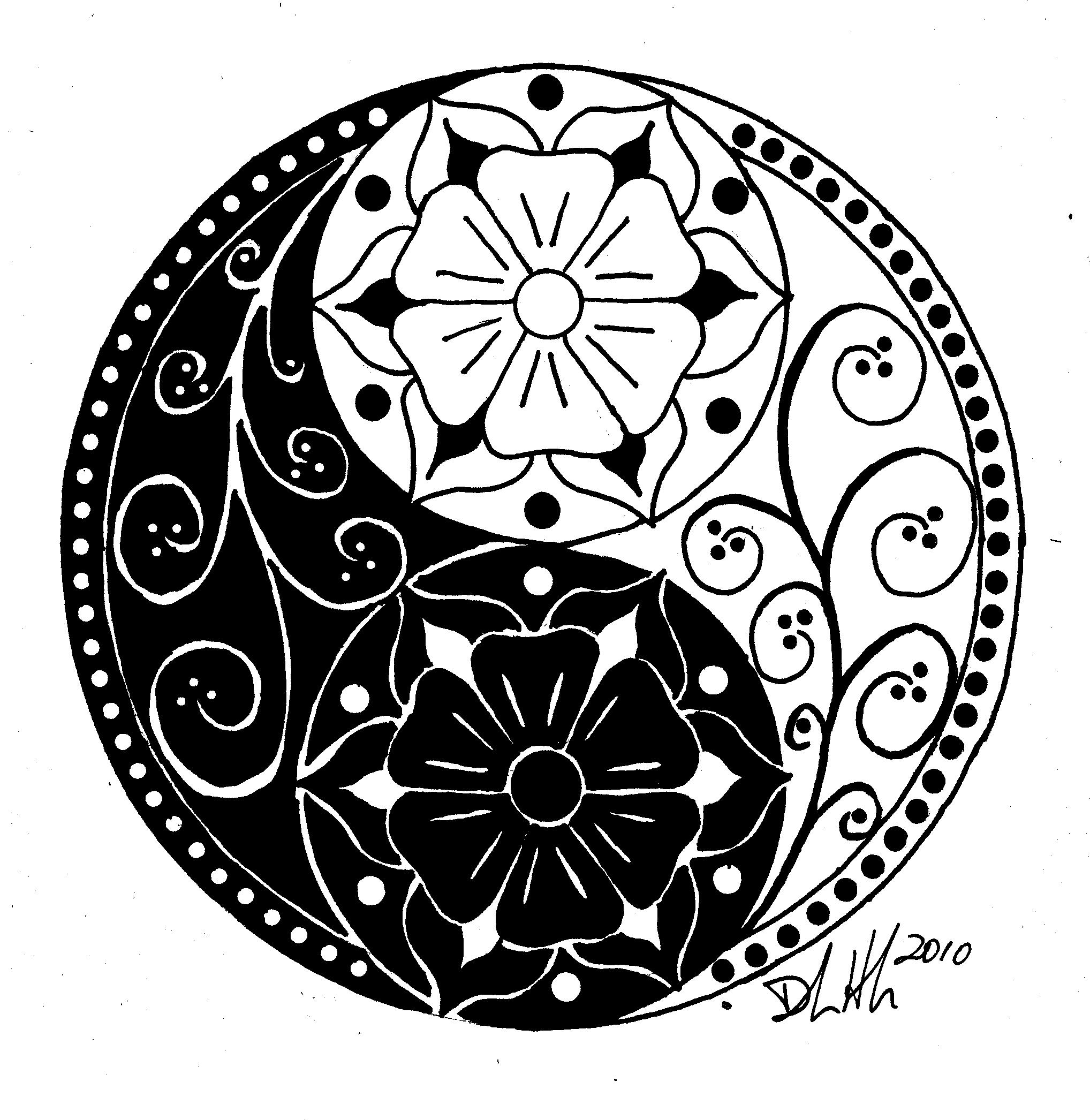 2036x2092 Floral Yin Yang Dibujos King Jr, Martin Luther