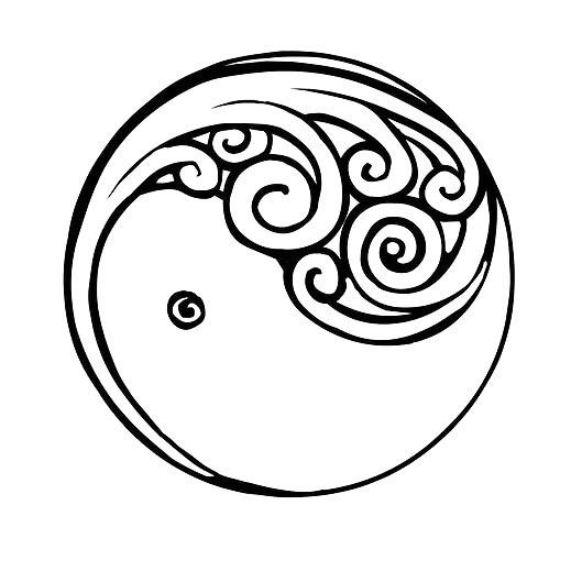 529x529 Yang New Beginning Tattoo Design