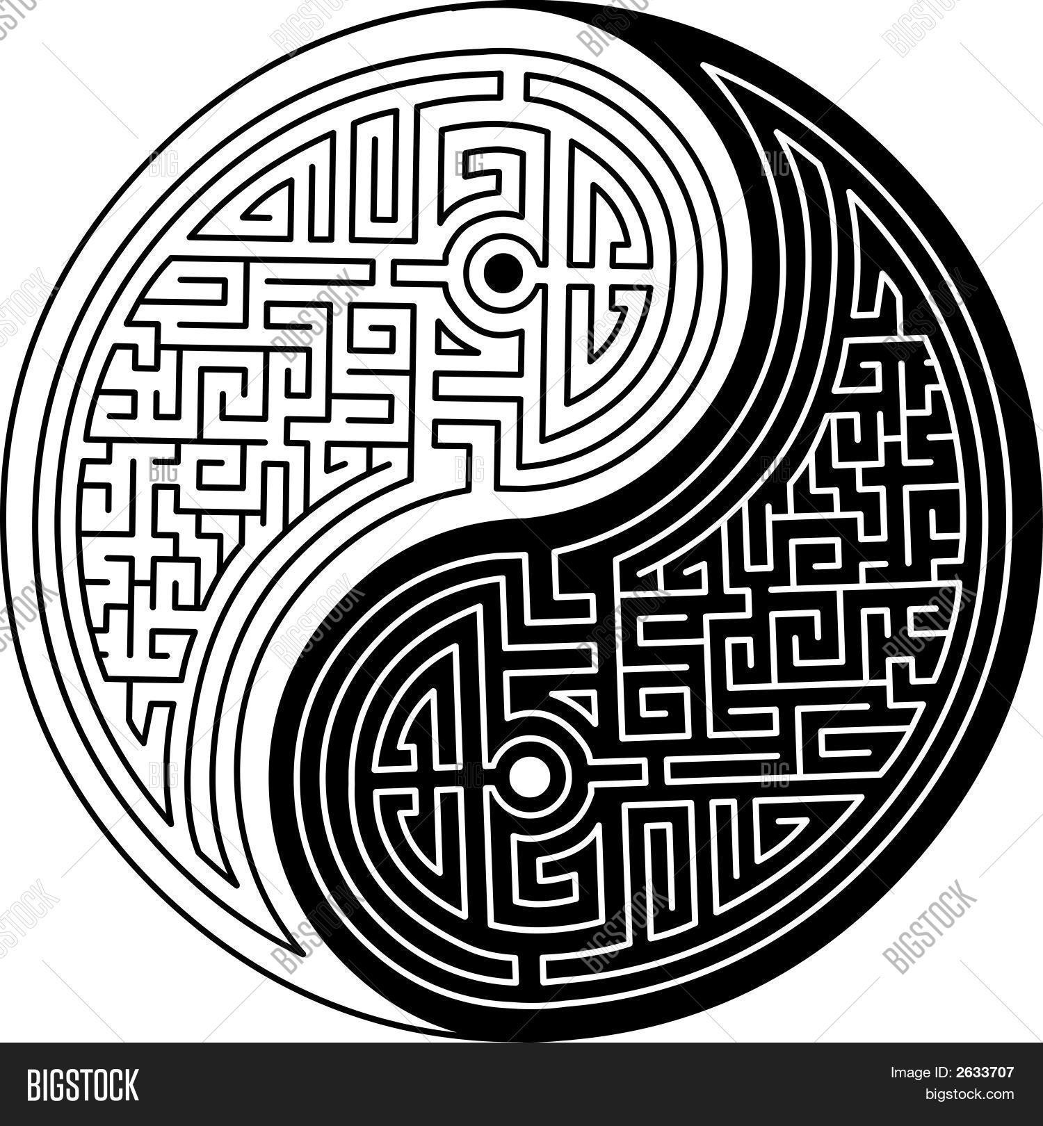1500x1620 Yin Yang Maze.eps Vector Amp Photo Bigstock