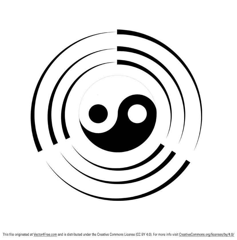 829x840 Free Tai Chi Ying Yang Vector Symbol