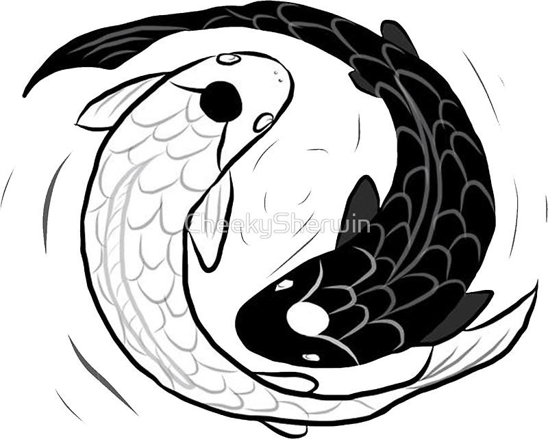 800x642 Ipad Drawing Of Koi Fish Ying Yang Stickers By Cheekysherwin