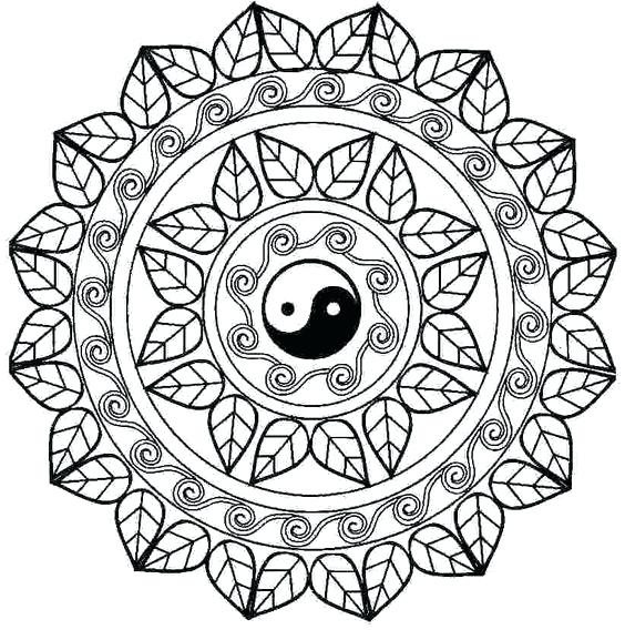 564x577 Online Yin Yang Coloring Pages Yin Yang Coloring Pages Printable