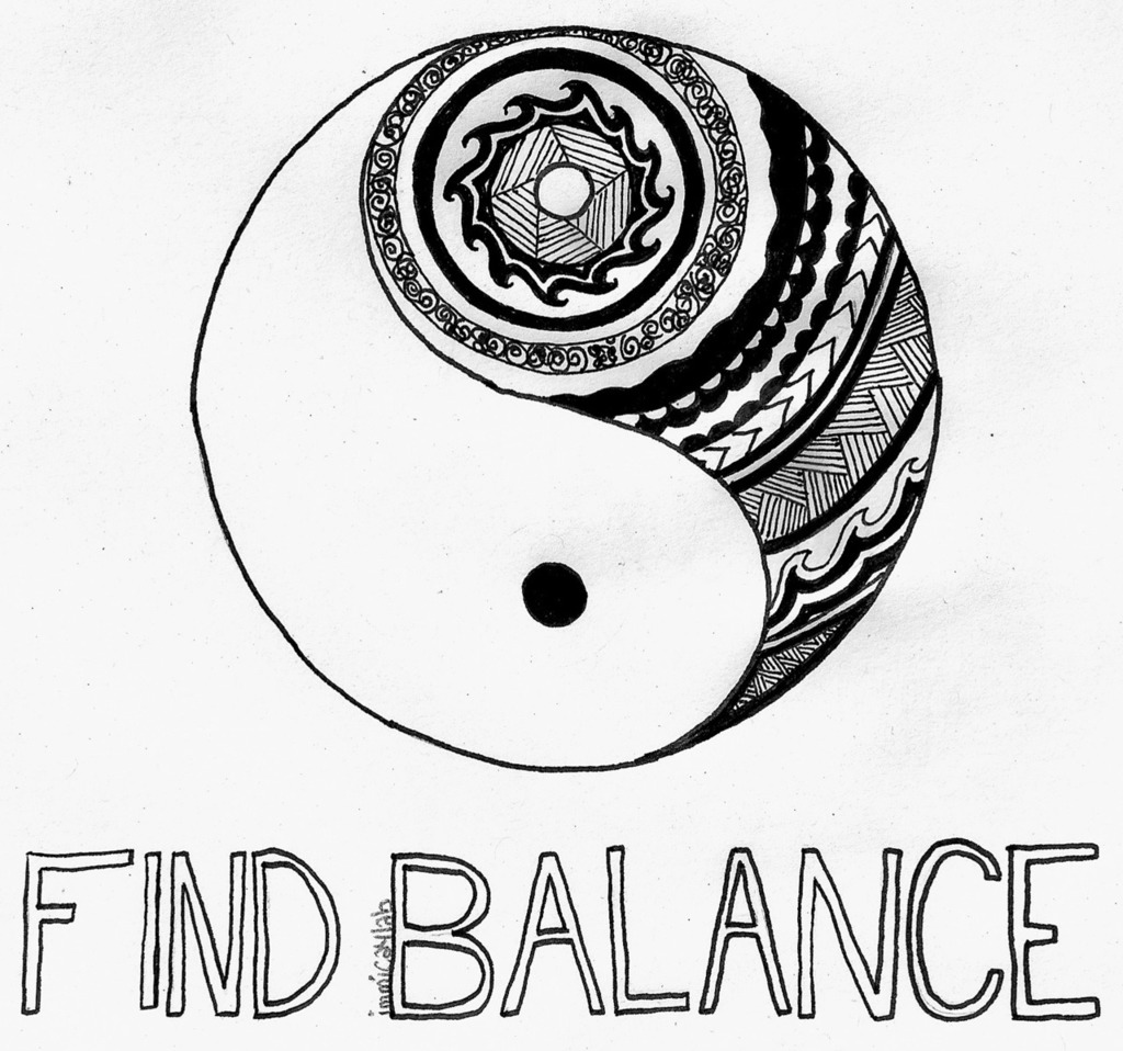 1024x958 Ying Yang Shared By F. On We Heart It