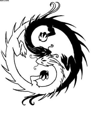 Ying Yang Drawing At Getdrawings Com Free For Personal Use Ying
