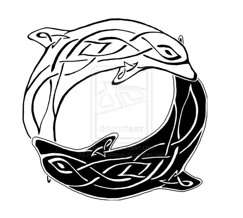 800x716 Fantasy Yin Yang Celtic Dolphins Yin Yang By Horsefantasy