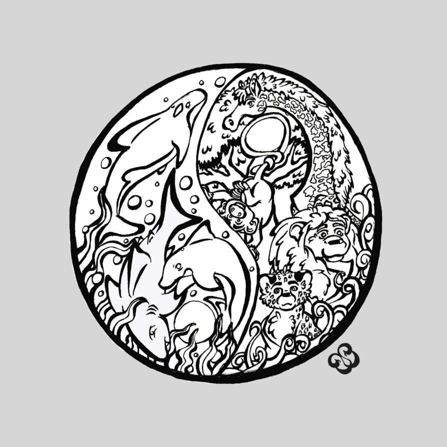 894x894 Color Me Ying Yang By Spork