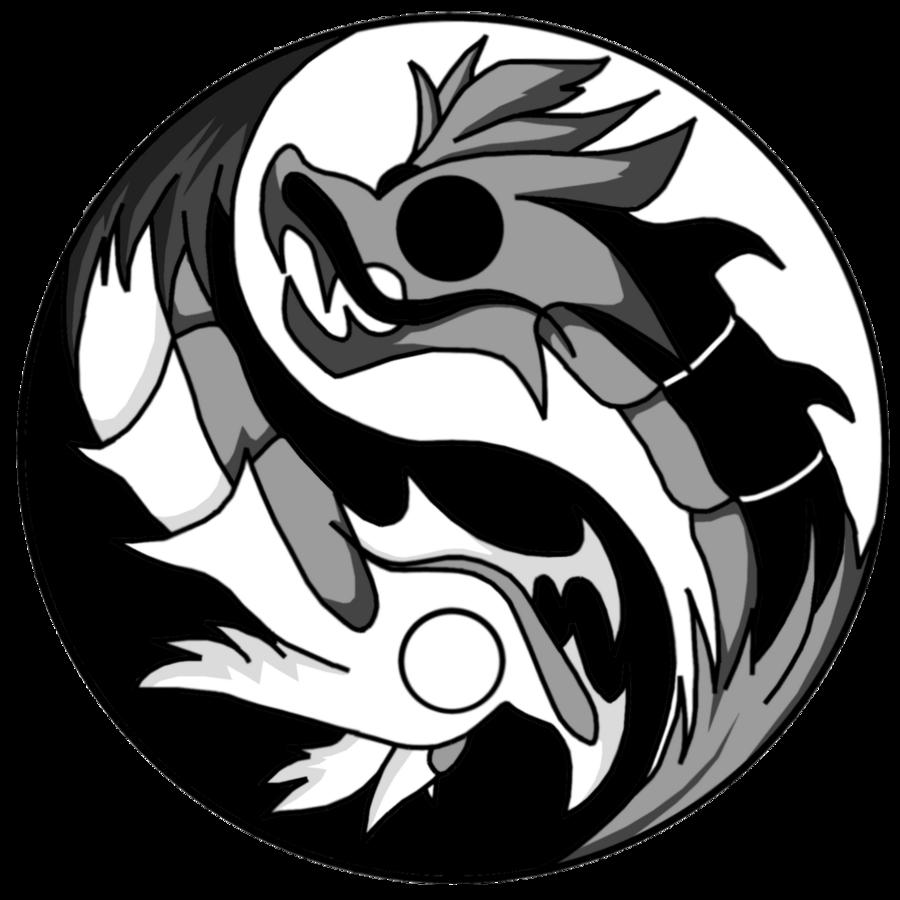 900x900 Dragon Ying Yang